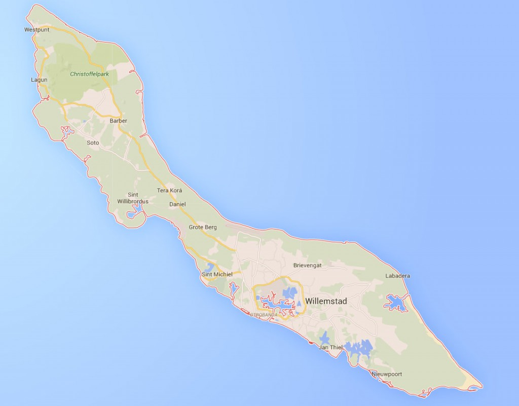 Kaart Curaçao